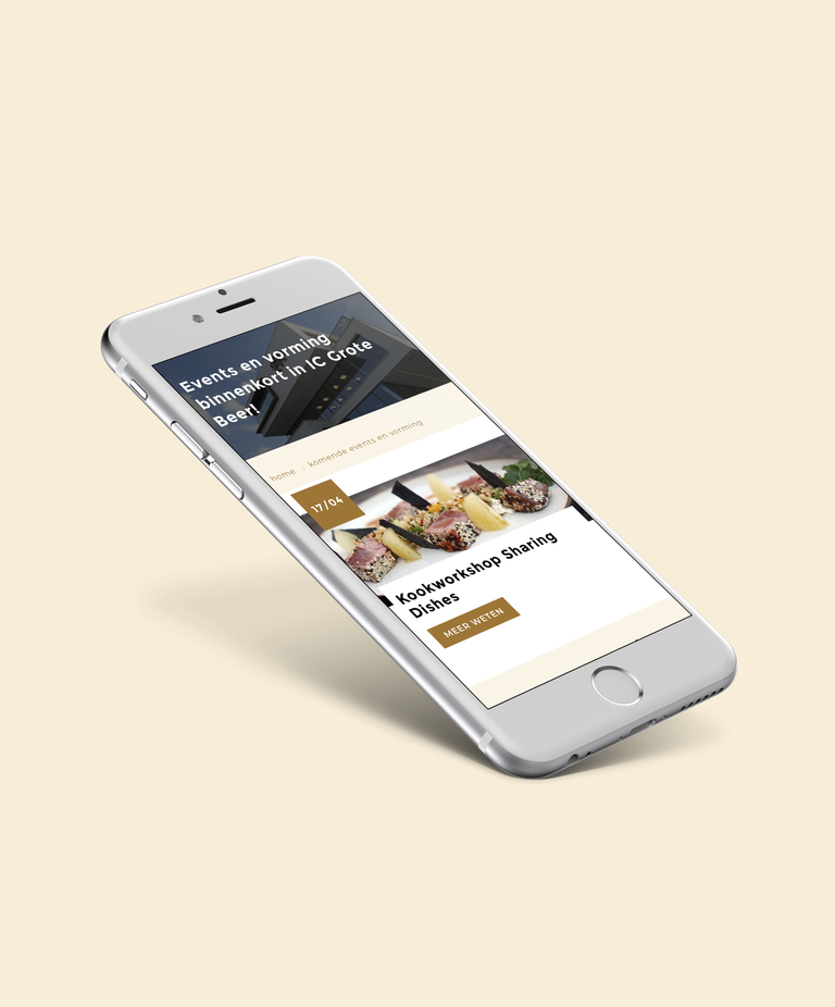 iphone mockup ic de grote beer website
