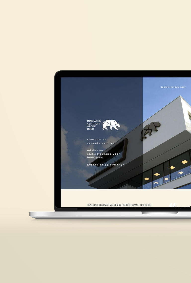 macbook pro ic de grote beer website mockup