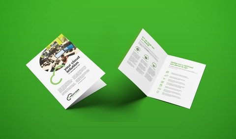 Brochure IT provider mockup cover en spread